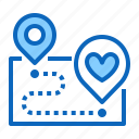 best, map, navigation, place icon