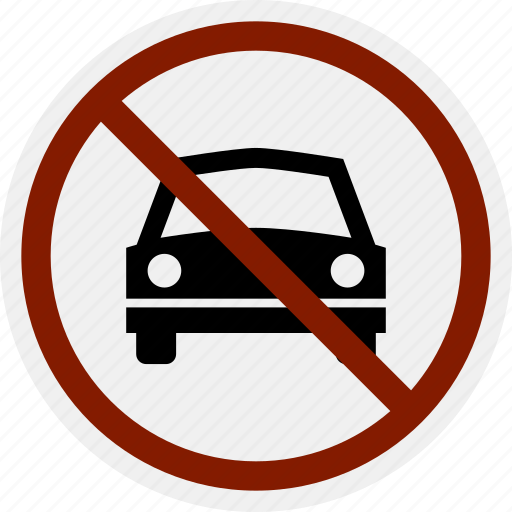 Area Car Do Not No Parking Sign Vehicle Icon