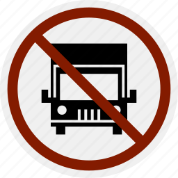 area, do not, heavy vehicle, lorry, no, parking, warning icon
