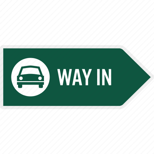 area, arrow, car, direction, enter, information, parking icon