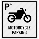 area, bike, entrance, motorbike, motorcycle, parking, reserve