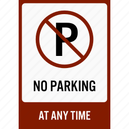 car, do not, no, notice, parking, sign, signboard icon