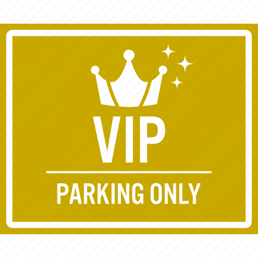car, parking, premium, reserve, sign, vehicle, vip icon