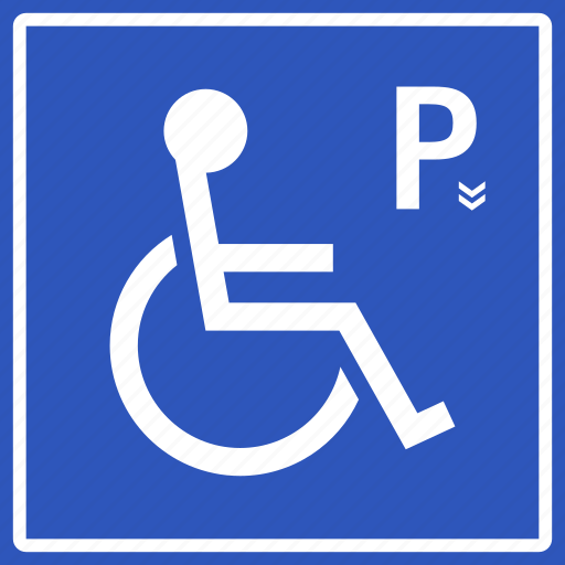 car, disability, disabled, handicap, parking, sign, signboard icon