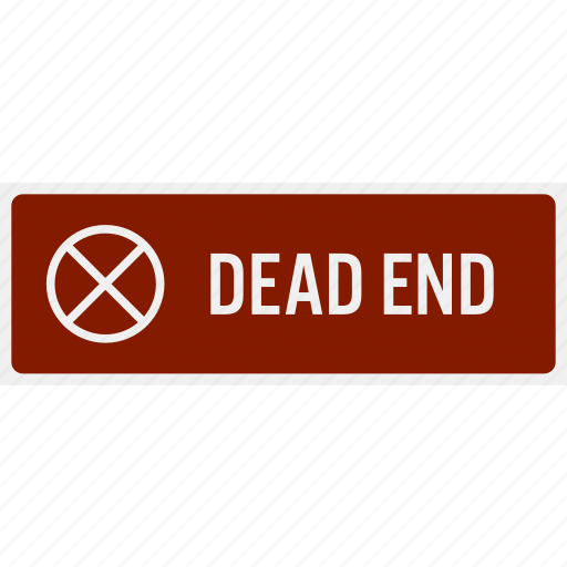 dead end, do not, no, parking, reminder, sign, signboard icon