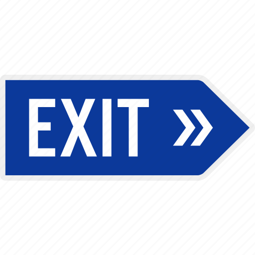 area, arrow, direction, exit, parking, sign, signboard icon