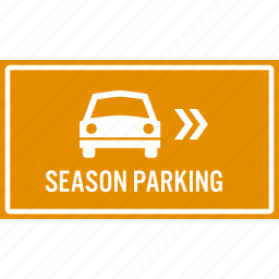 area, arrow, direction, parking, reserved, season, sign icon