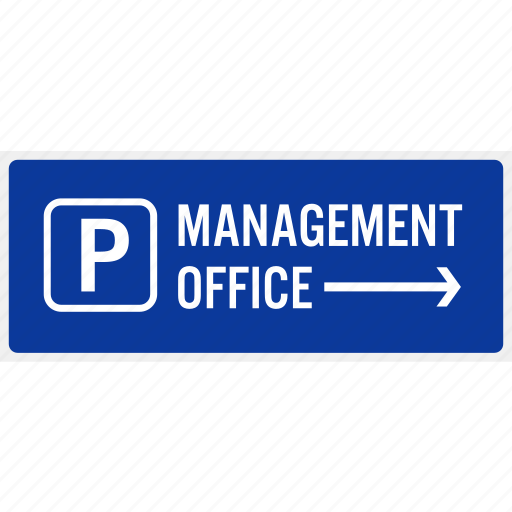 arrow, car, direction, management, office, park, sign icon