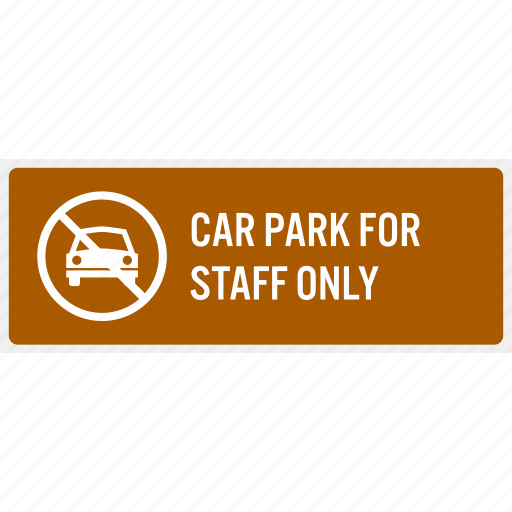 car, do not, employee, park, reserve, staff, worker icon