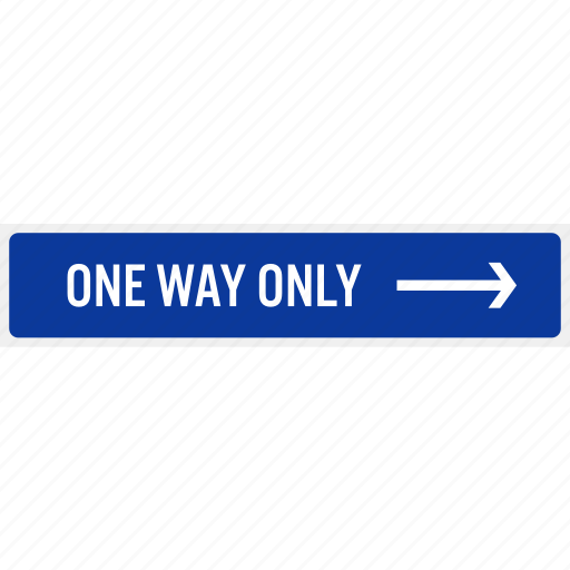 arrow, direction, one way, parking, reminder, sign, signboard icon