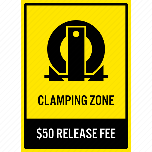 car, clamping, fine, illegal, parking, penalty, sign icon