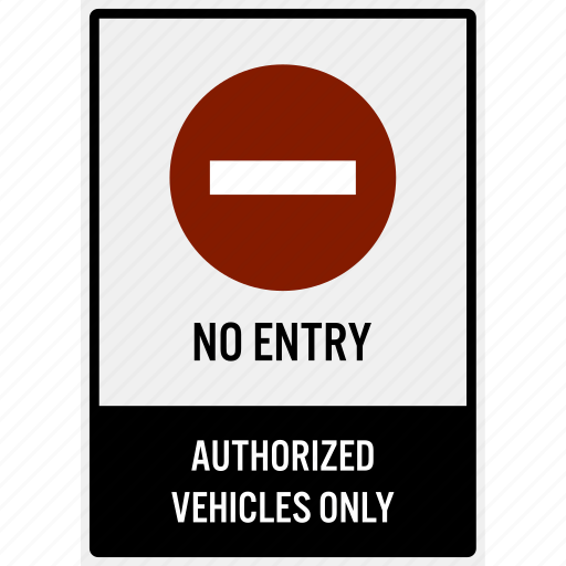 car, do not, enter, entrance, entry, no, parking icon