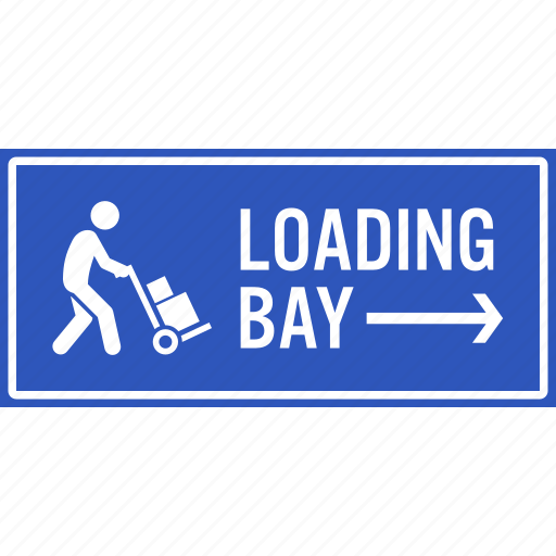 area, bay, goods, load, loading, parking, reserve icon
