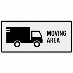 area, car, heavy vehicle, lorry, moving, parking, truck icon