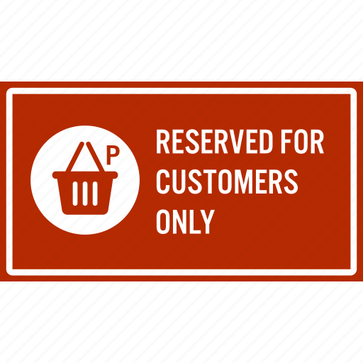 car, customer, notice, parking, reserve, sign icon
