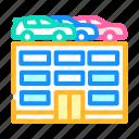 building, car, parking, transport, electronic, ticket