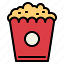 cinema, fair, popcorn, snack icon