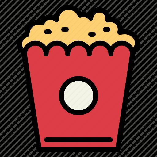 cinema, fair, popcorn, snack icon