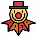 birthday, clown, costume, party icon