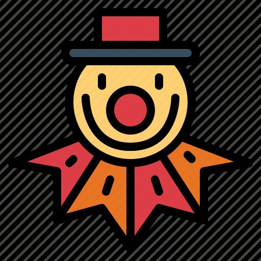 birthday, clown, costume, party icon