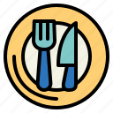 birthday, dinner, party, table icon