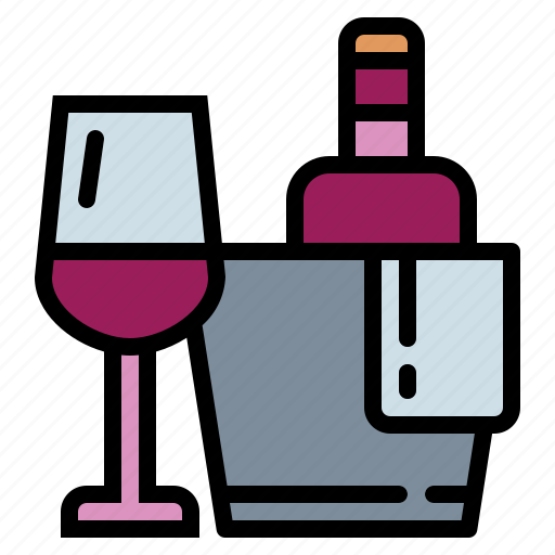 alcohol, cup, ice, wine icon