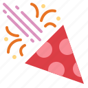 birthday, confetti, fun, party icon