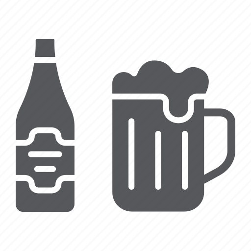 Alcohol, bar, beer, bottle, drink, glass, pub icon - Download on Iconfinder