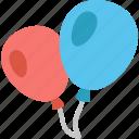 balloons, birthday, celebration, children, decoration, festival, party icon