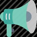 bullhorn, ad, advertising, announcement, megaphone, promotion, speaker