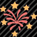 boom, celebration, explosion, firecracker, fireworks, party, stars icon
