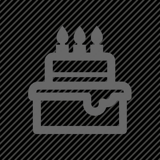 celebration, christmas, gift, invitation, line, party icon