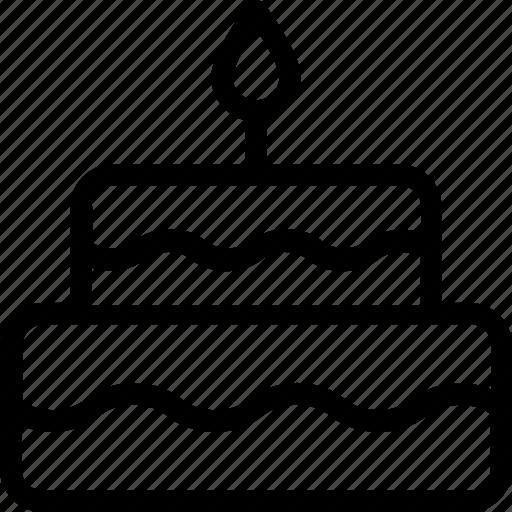 Birthday cake, cake, candle, celebration, christmas cake icon - Download on Iconfinder