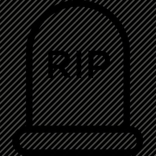 gravestone, halloween tombstone, headstone, rip, tombstone icon