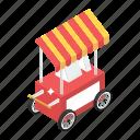 food stand, food truck, food vending, food wagon, kiosk, vending cart icon
