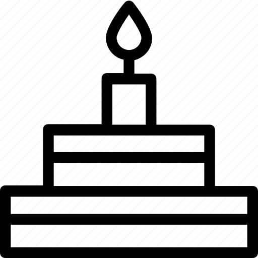 birthday cake, cake, candle, celebration, christmas cake icon