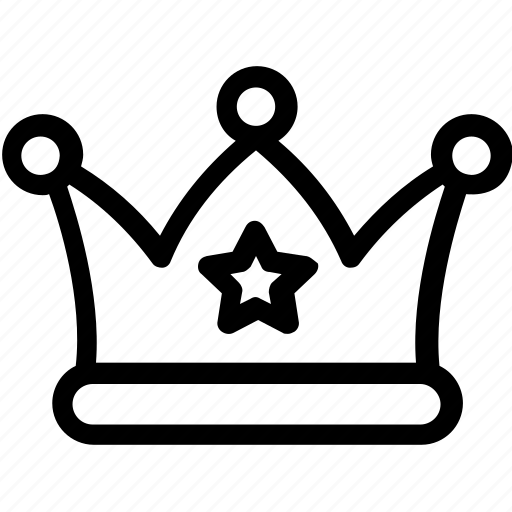 crown, headgear, nobility, royal, star crown icon
