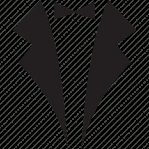 bow tie, men's party dress, men's suit, suit, suit with bow tie icon
