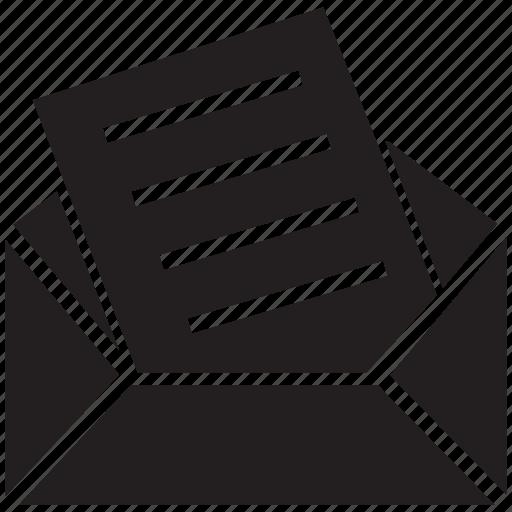 document, envelope, letter, mail, post, postal mail icon