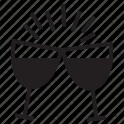 alcohol, celebration, drinks, enjoyment, party, wine icon
