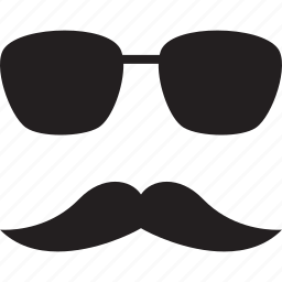 moustache, mustache, shades, sun glasses, sunglasses icon