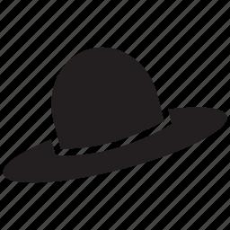 black hat, cap, formal hat, formal men's hat, hat, men's hat icon