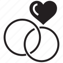 heart, love, rings icon