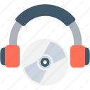 cd, disc jockey, dj, headphones, party icon