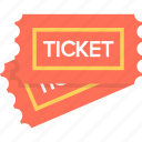 concert, entry pass, museum ticket, pass, ticket icon