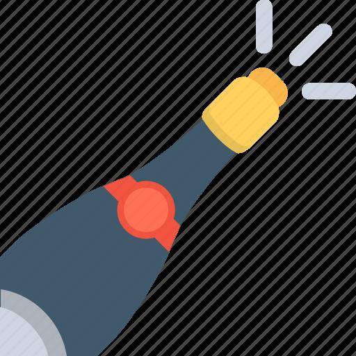 alcohol, celebration, party, popping cork, splashing champagne icon