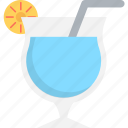 cocktail, drink, margarita, martini, straw icon