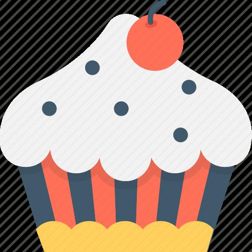 cupcake, dessert, fairy cake, food, muffin icon