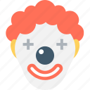 buffoon, clown, jester, joker, joker face icon