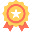 award, badge, premium, prize, ribbon badge icon